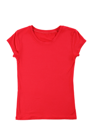 red tshirt: Red t-shirt isolated on a white