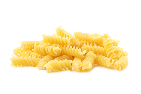 Spiral pasta isolated on a white background Stock Photo