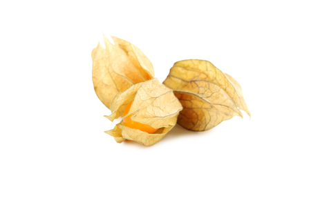 Ripe physalis isolated on a white background Stock Photo