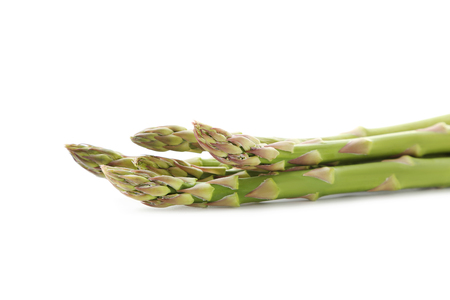 Green asparagus isolated on a white background Stock Photo