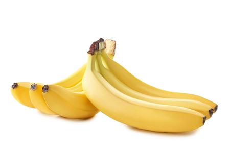 banana skin: Sweet bananas isolated on a white background