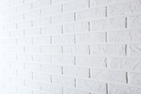 Background of the white brick wall Stock Photo