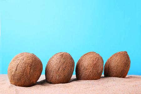 faf6ed7697b Coconuts On The Beach Sand Stock Photo