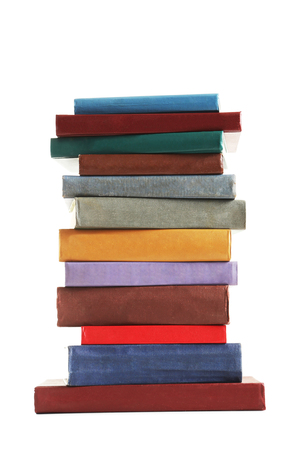 paper sheet: Old books isolated on a white background