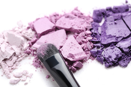 Makeup eyeshadow isolated on white background Imagens