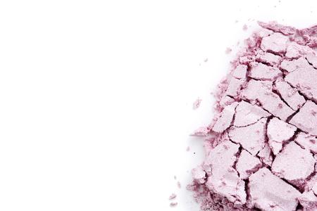 Makeup eyeshadow on white background Banco de Imagens