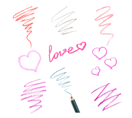 Stroke of cosmetic pencil on a white background Stock Photo