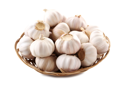Garlic isolated on a white background
