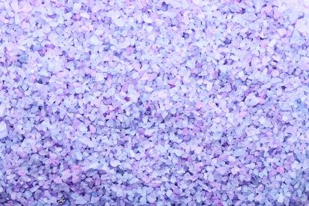 Heap of purple sea salt background
