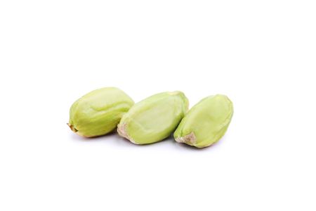 Pistachios isolated on white background