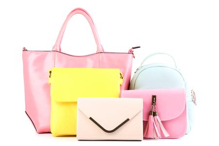 Fashion handbags isolated on white background