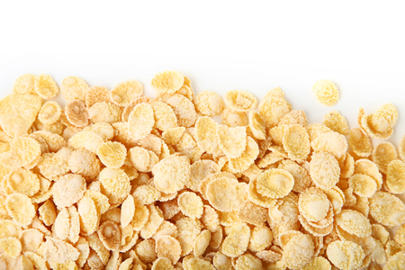 Corn flakes on white background 版權商用圖片