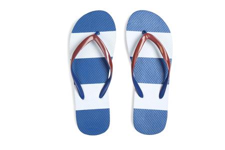 Pair of flip flops isolated on white background Reklamní fotografie