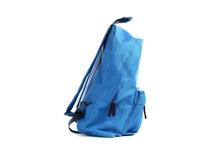 School backpack isolated on white background Stockfoto