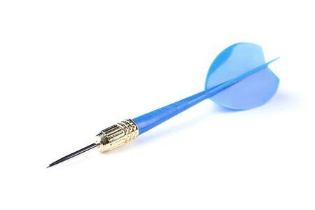 Blue dart isolated on white background