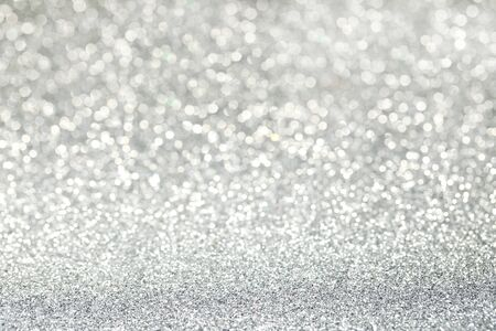 Abstract silver bokeh background Stock Photo
