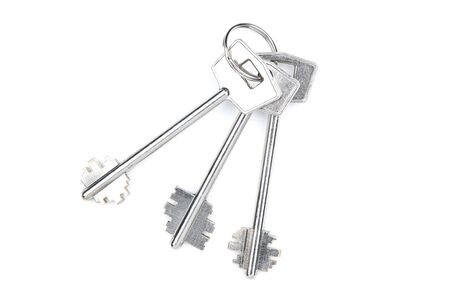 House keys isolated on white background 写真素材