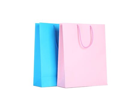 Colorful shopping bags isolated on white background