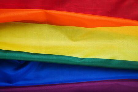 Fondo de la bandera del arco iris Foto de archivo