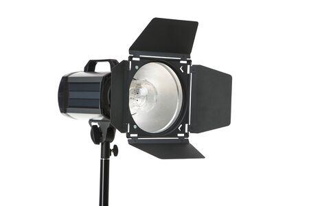 Studio lighting isolated on white background