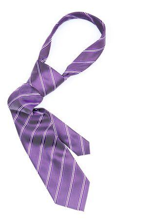 Striped necktie isolated on white background Archivio Fotografico
