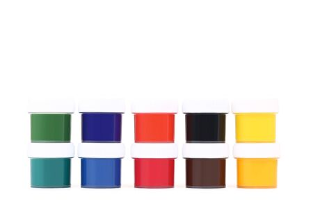 Colorful gouache paints isolated on white background Banco de Imagens - 138293373