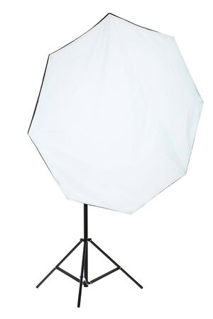 Studio lighting with softbox isolated on white background Stockfoto