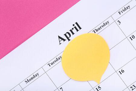Text April Fool's Day on paper calendar Standard-Bild