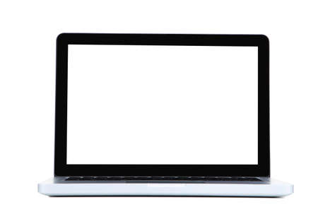 Laptop computer isolated on white background Foto de archivo