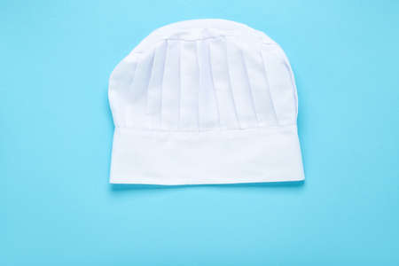 Chef hat on blue background Banque d'images