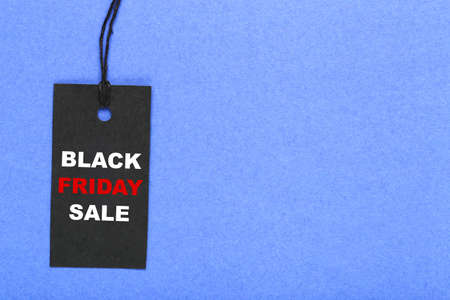 Sale tag with text Black Friday Sale on blue background
