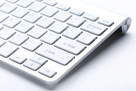 Computer keyboard on white background Banque d'images