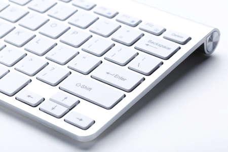 Computer keyboard on white background Stock Photo