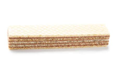 Sweet wafer stick isolated on white background