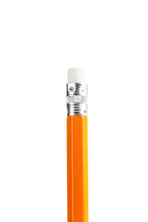 Yellow pencil isolated on white background Standard-Bild