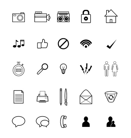 yes or no: Series of icons for use in social media and web