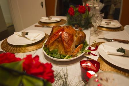 candlelit: Candlelit Christmas Turkey Table