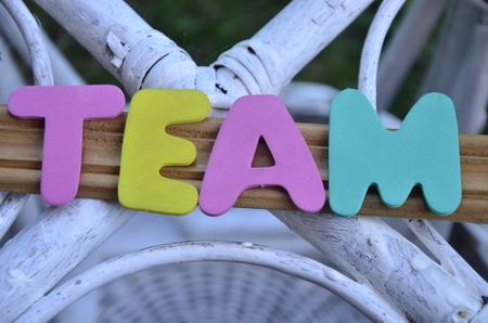 word team Banco de Imagens