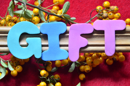 word gift Stockfoto - 101185194