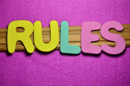 WORD RULES Banque d'images