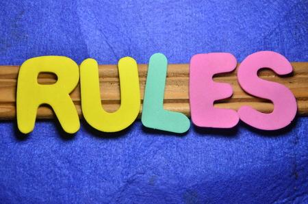 WORD RULES Фото со стока