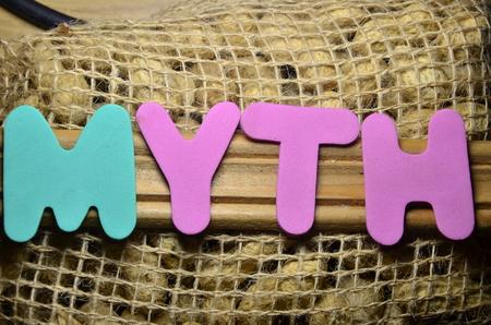 word myth Archivio Fotografico - 101185499