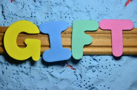 word gift Stockfoto - 101185503
