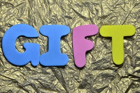 word gift Standard-Bild - 101267475