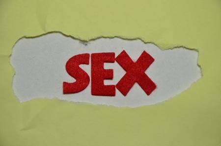 WORD SEX Banco de Imagens
