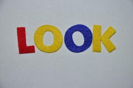 LOOK WORD Standard-Bild - 101317290