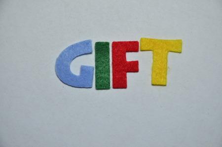 word gift Banco de Imagens
