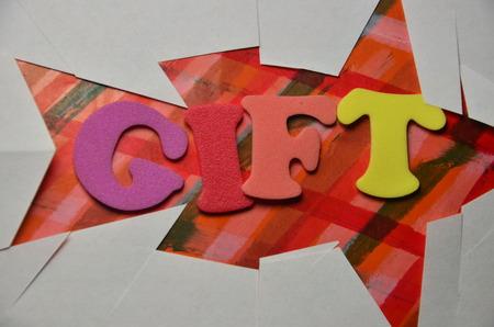 word gift Stockfoto - 101317461