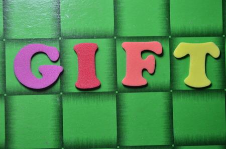 word gift Stockfoto - 101317460