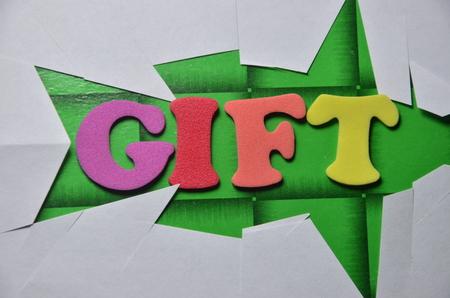 word gift Standard-Bild - 101317463
